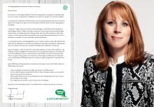 Annie Lööf skriver till politiker i kommun, landsting och region
