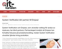IT-kanalen skriver om vårt samarbete med Empear