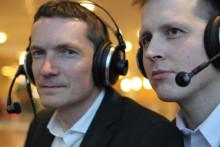 Mediespanarna möter vänsterpartiets ledare Jonas Sjöstedt