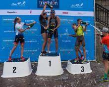 Varga och Fleetwood segrare i första deltävlingen i Svenska Triathloncupen