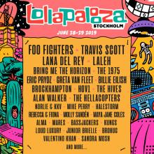 Första artisterna till Lollapalooza Stockholm släppta