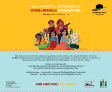 Inbjudan till invigning Muri Romani Familja