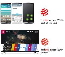 LG G3 OCH LG WEBOS PRISAS I PRESTIGEFYLLDA RED DOT AWARDS 2014