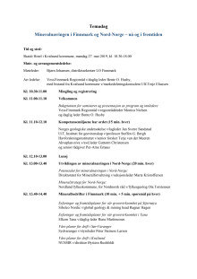 Program Temadag Mineralnæring i Finnmark