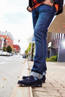 Sebagos klassiska loafer i mjuk mocka