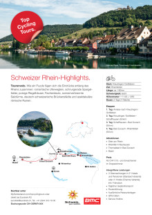 Fact Sheet Top Cycling Tour Rhein