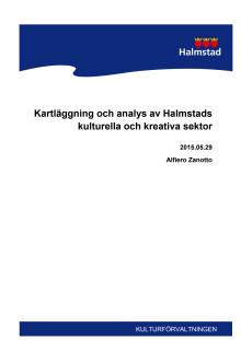 Kartläggning och analys av Halmstads kommuns kulturella och kreativa sektor.
