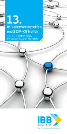 Flyer 13. IBB-Netzwerktreffen und drei ZIM-KN Treffen