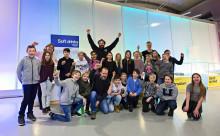 Klass 4 från Katrineholm vann dag med Beppe Singer på Tekniska museet