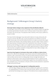Background: Volkswagen Group's battery strategy