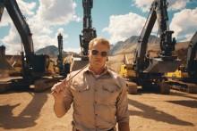 Se actionhjälten från Hollywood sätta Volvos grävmaskiner i hårdträning