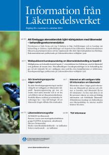 Idag publiceras Information från Läkemedelsverket 5/2014