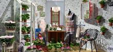 Inred med krukväxter i stilen Granny Cosy Cottage