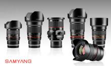 Samyang julkaisee suositut objektiivinsa Sonyn täydenkennon E-kiinnitykselle