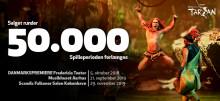 Disneys Musical TARZAN runder 50.000 solgte billetter i forsalg forud for fredagens danmarkspremiere på Fredericia Teater – og forlænges igen