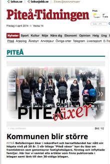 Idag hälsar vi ett femtiotal hemlängtande inflyttare välkommen till Piteå!