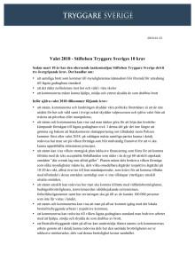Tio krav för säkerhet och trygghet