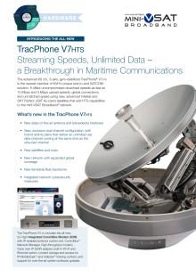 KVH TracPhone NYA VSAT V7-HTS SYSTEM GER TRE GÅNGER SÅ HÖG DATAHASTIGHET ÄN TIDIGARE