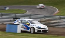 Blandade känslor hos Volkswagen-trio efter kvalstarten i rallycross-SM