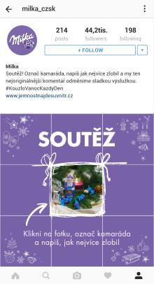 Milka má adventní kalendář na Instagramu