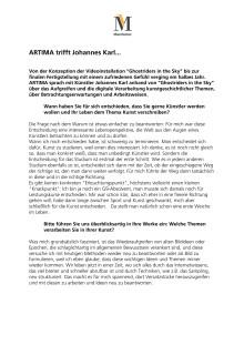 ARTIMA trifft Johannes Karl zum Interview