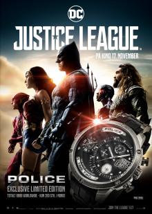 POLICE har designet en limited edition klokke for superhelt fans verden over.