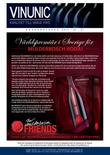 Världspremiär för Mulderbosch röd