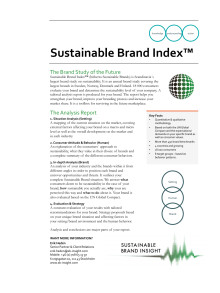 Informationsblad - Sustainable Brand Index™ 2013