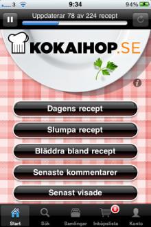 Kokaihop.se utsedd till bästa mat-app för iPhone