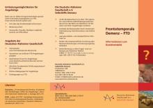 Frontotemporale Demenz - Informationsflyer zum Krankheitsbild