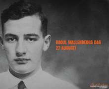 Statsminister Stefan Löfven håller tal på Raoul Wallenbergs dag