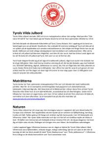 Bakgrundsinformation om Tyrols Vilda Julbord