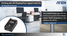 Förläng din 4K DisplayPort-signal med 5m