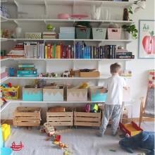 System og orden i børneværelset.
