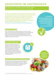 Factsheet Mythen rund um Süßstoffe