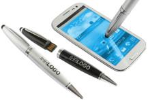 Der neue USB-Kugelschreiber mit Stylusfunktion ist Werbe- , Daten- und Imageträger in einem