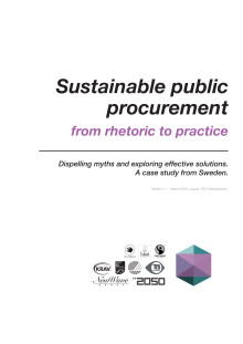 Report: Sustainable public procurement - from rhetoric to practice