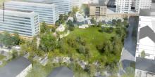 Blå parken blir namnet på den nya parken i Väsby