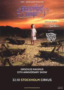 Groovus Maximus med Electric Boys på Cirkus 22/10  och efterföljande Englands-turné