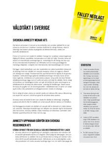 Faktablad och statistik - Bristande rättstrygghet för våldtagna kvinnor