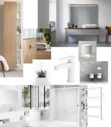 Materialet trä dominerar i årets inredning -  skapa stilen i badrummet!
