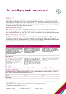 Fakta om långverkande preventivmedel