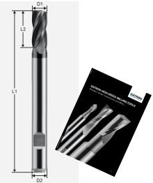 Högpresterande 4-skärigt fräsverktyg för stålbearbetning