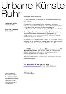Einladung Presstour Ruhr Ding