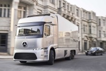 Mercedes tunga el-lastbil på test hos kunder redan 2017