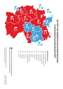 Visualisierung der Ergebnisse aus der Erhebung von Kurzurlaub.de zum Inlandsreiseverhalten