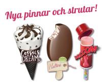 Kul glassnyheter från SIA Glass: Cookies & Cream, ekologisk Hallon och vrålgoda Vrooom!