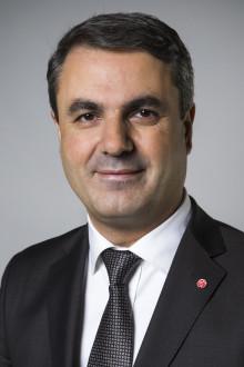 Samordnings- och energiminister Ibrahim Baylan inviger solcellsparken Solvåg den 30 augusti.