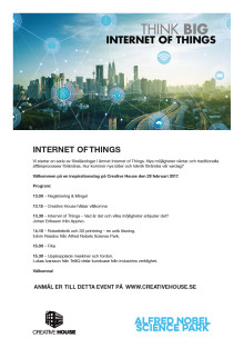 Internet Of Things - föreläsning ihop med Creative House 28 feb 2017!