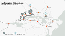 Laddregion Mälardalen erbjuder över 1000 laddare för elbilar.